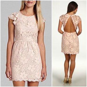 BCBGeneration Open Back Pink Lace Dress